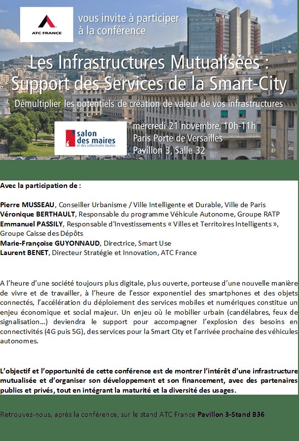 SmartUse participe à une Conférence infrastructures mutualisées au Salon des Maires